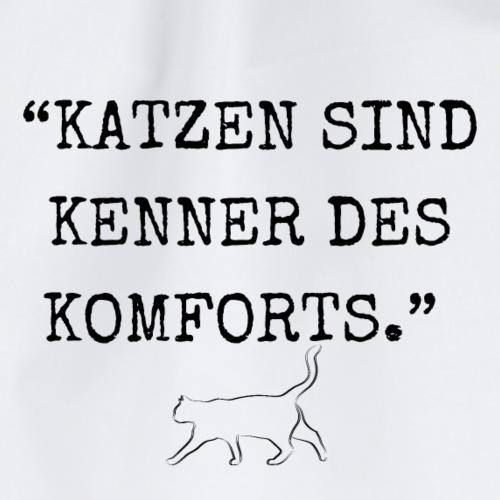 Katzen sind Kenner des Komforts - Turnbeutel