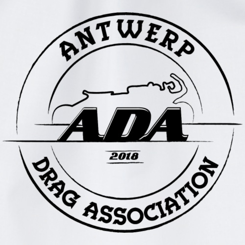 ADA DRAG Logo Groot Zwart - Gymtas