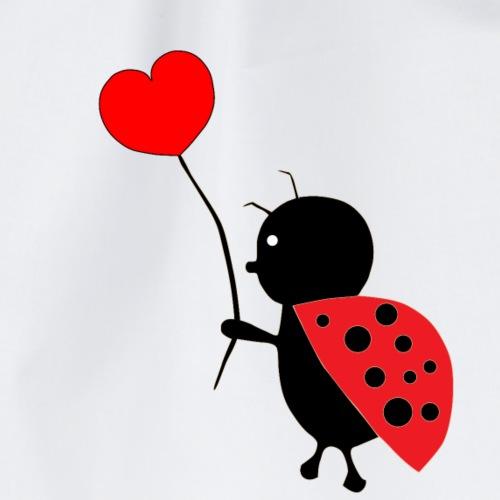 Lieveheersbeestje met hart - Gymtas