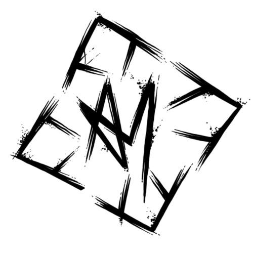 Across Yourself - Logo black transparent - Drawstring Bag