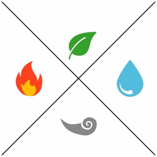 Les 4 éléments - Sac de sport léger