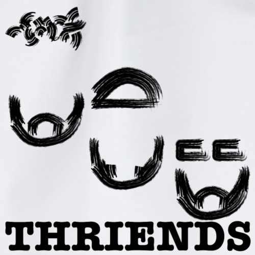 Thriends logo sqare - Drawstring Bag