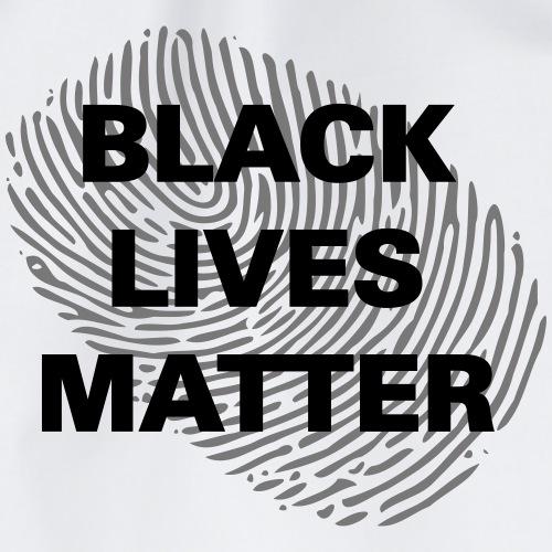 black lives matte fingerprint schwarz - Turnbeutel