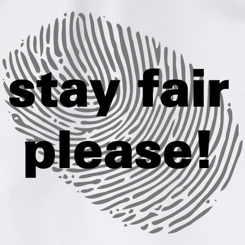 stay fair please fingerprint black lives matter - Turnbeutel