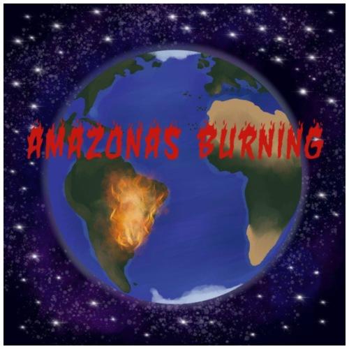 burning - Drawstring Bag