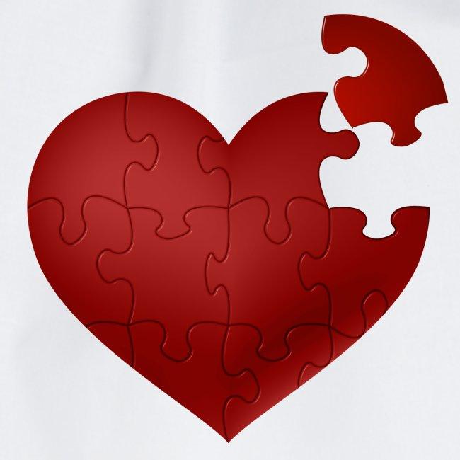 Coeur en puzzle