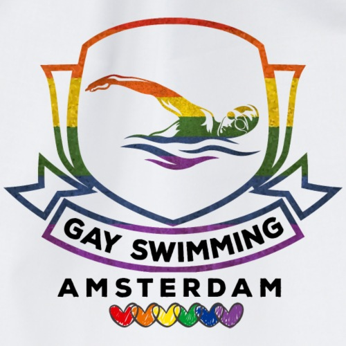 Gay swimming Amsterdam - rainbow - Turnbeutel