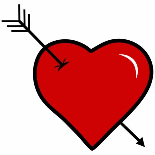coeur troué par une fléche - Sac de sport léger