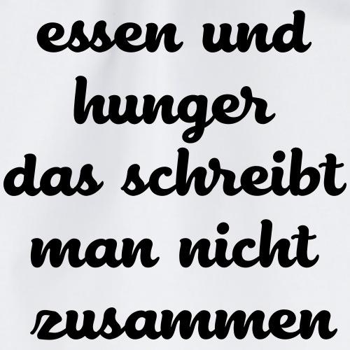 Essen und Hunger das schreibt man nicht zusammen - Turnbeutel