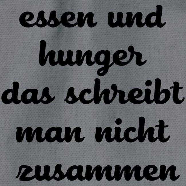 Essen und Hunger das schreibt man nicht zusammen