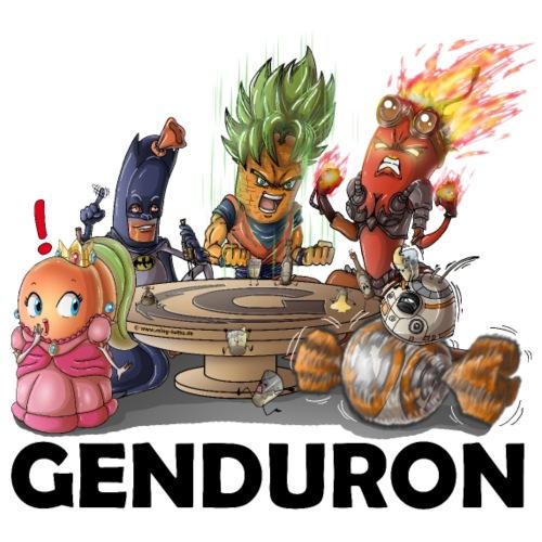 Genduron Logo - Turnbeutel