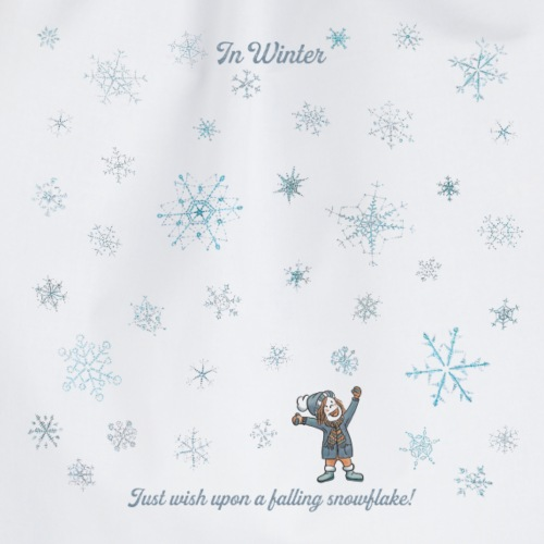 Just wish upon a falling snowflake in Winter - Turnbeutel