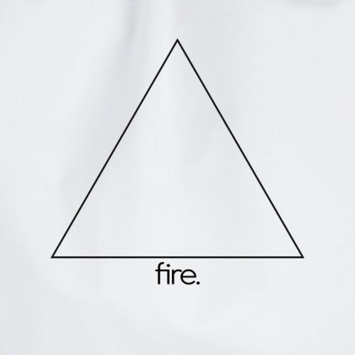 fire. (black) - Turnbeutel