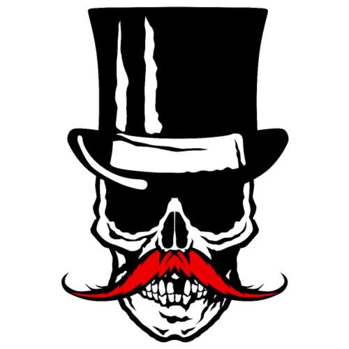 tete de mort crane skull chapeau hipster moustache - Sac de sport léger
