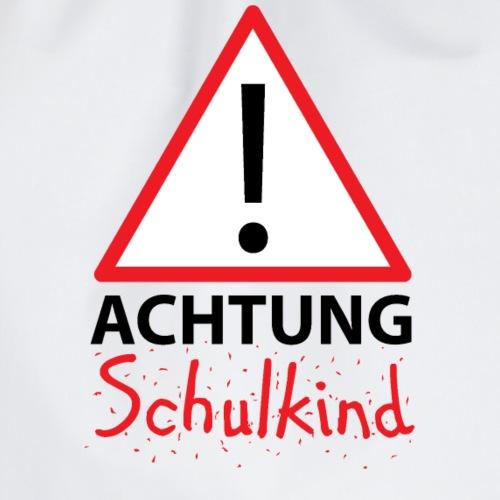 Achtung Schulkind no gender - Turnbeutel