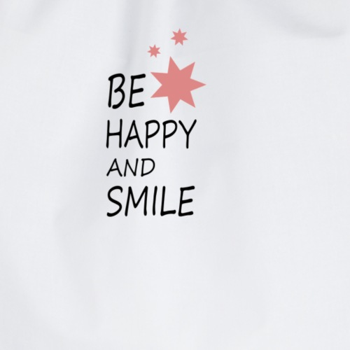 Be happy and smile - Turnbeutel