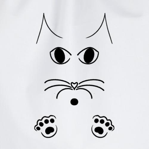 Katze Skizze - Turnbeutel