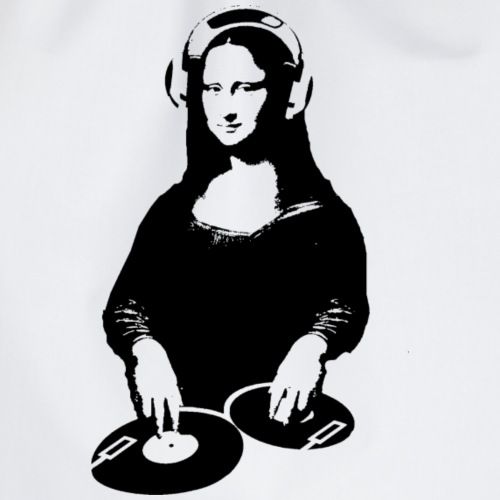 Geek mona lisa DJ - Turnbeutel