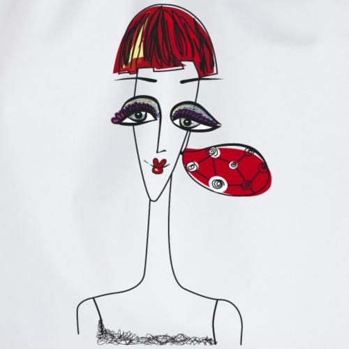 Visage de femme avec boucle d'oreille - Sac de sport léger