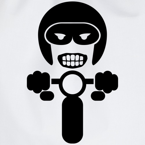 Motorcycle rider 2 - Drawstring Bag