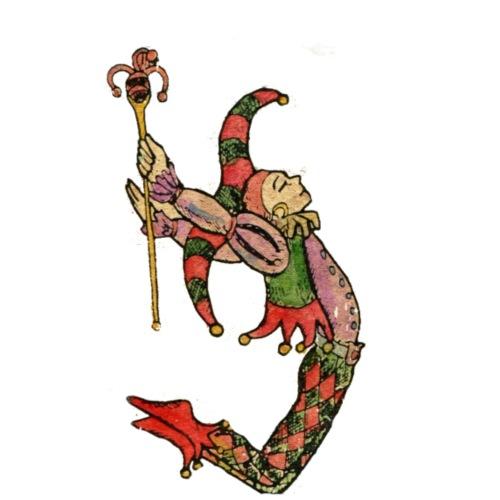 Bufón arlequín, carta de tarot el tonto - Mochila saco
