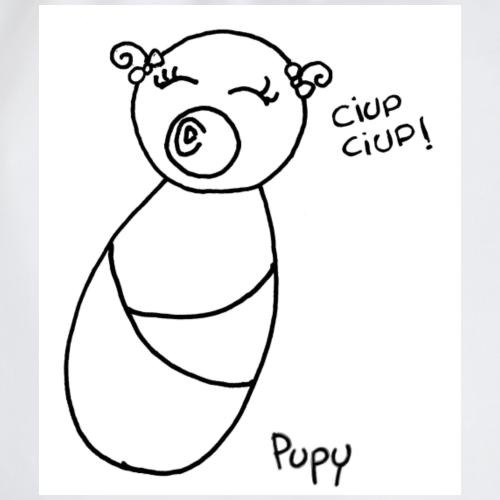 Pupy: ciup ciup! - girl - Sacca sportiva