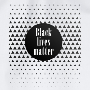 black lives matter pattern cool black slogan fun - Drawstring Bag