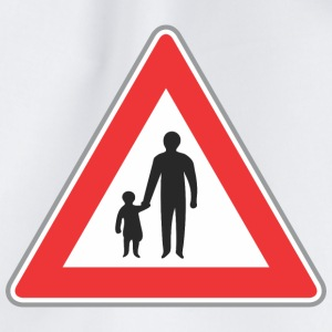 Road sign father with chilf - Drawstring Bag