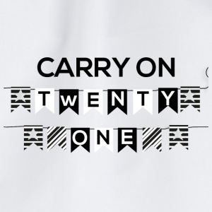 21 Compleanno: Carry on - Twenty One - Sacca sportiva