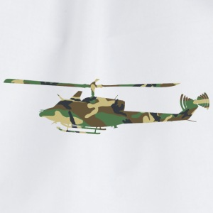 Camouflage Helicopter - Drawstring Bag