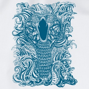 Snake-and-Water-in-Blue - Drawstring Bag