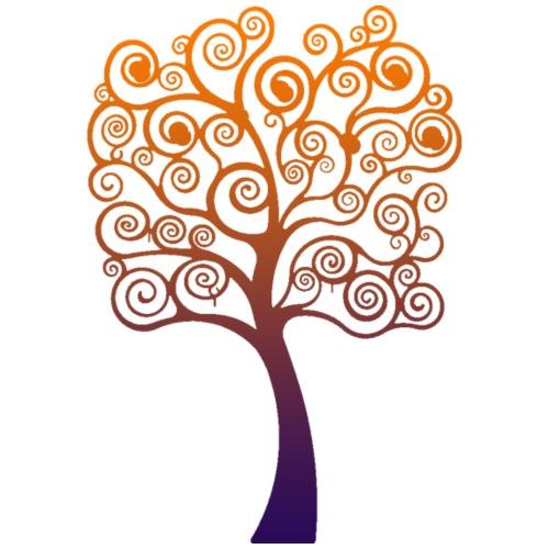 albero della vita orange - Sacca sportiva