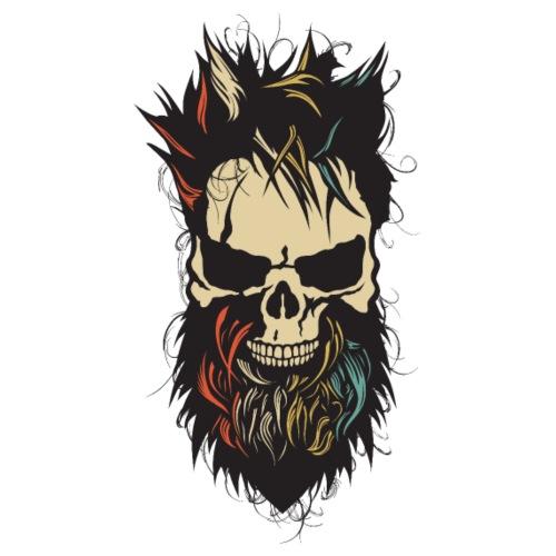 tete de mort hipster crane skull barbu barbe coiff - Sac de sport léger