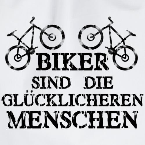 Biker sind die glücklicheren Menschen - Turnbeutel