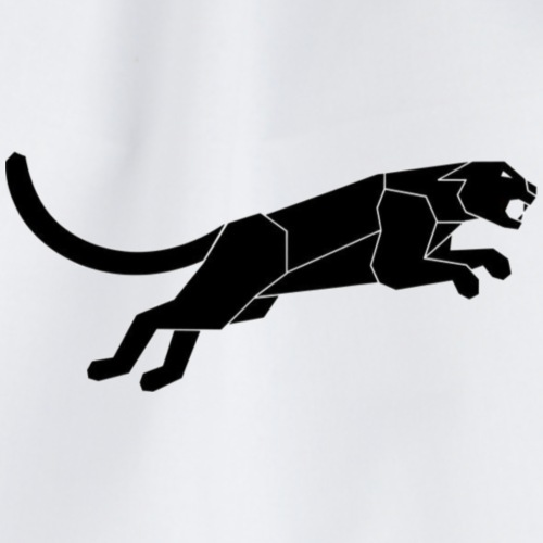 Abstract Silhouette of a Black Panther Vector - Sacca sportiva