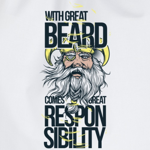 With a great beard comes great responsibility - Sacca sportiva
