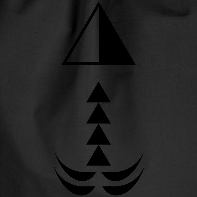 Ägypten Symbol Pyramide & Palme