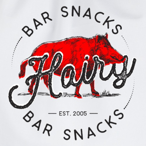 Hairy Bar Snacks Boar Brand - Drawstring Bag