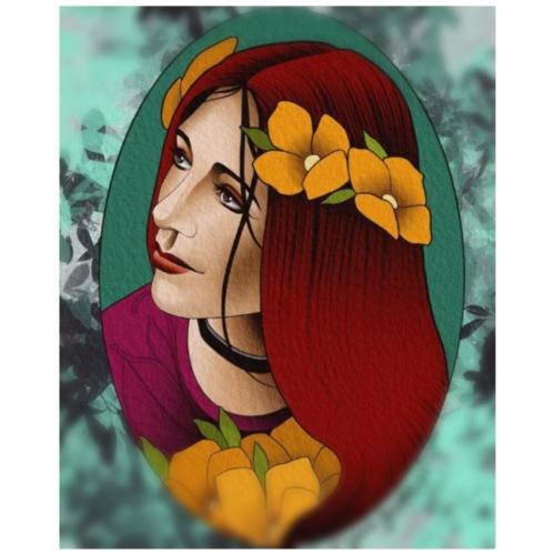 Mujer flores - Mochila saco