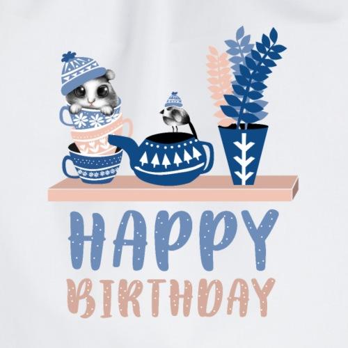 Happy Birthday Geburtstag - Turnbeutel