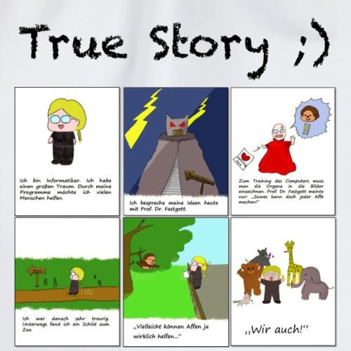 True Story - White Background - Turnbeutel