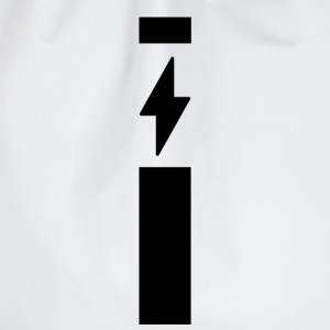 Lightning with strip - Drawstring Bag