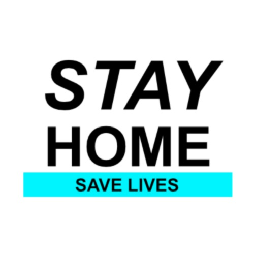 Stay@Home to Save Lives - Turnbeutel