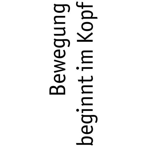 Bewegung 90 schwarz - Turnbeutel