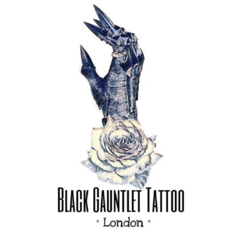 Black Gauntlet Tattoo - Drawstring Bag