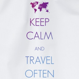 Keep calm and travel often - Turnbeutel