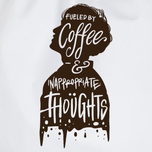 Mein Benzin sind Kaffee und unangemessene Gedanken - Turnbeutel