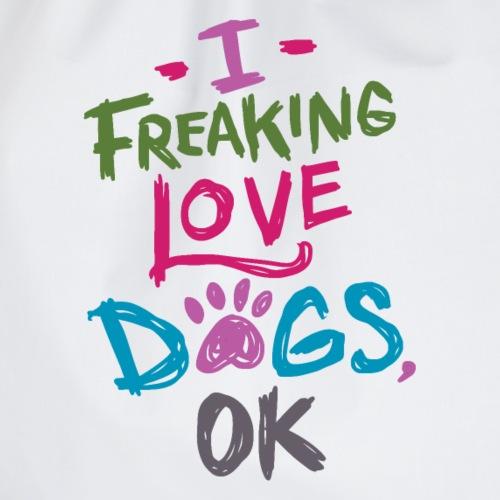 Ich liebe Hunde über alles Hund Haustier - Turnbeutel