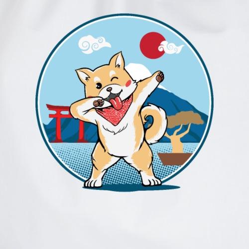 Japanischer Akita Hund mit Dab Pose - Turnbeutel