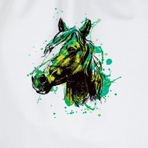 Pferd Pferde Kopf Mähne Reiter Liebe Splash - Turnbeutel